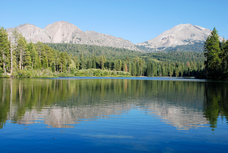 """<span id=""""title"""">Manzanita Lake </span> Half of the postcard photos from Lassen are taken from this spot."""