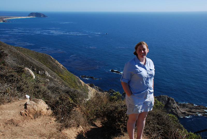 "<span id=""title"">Ann on the Coast </span> Point Sur Lighthouse in the background."