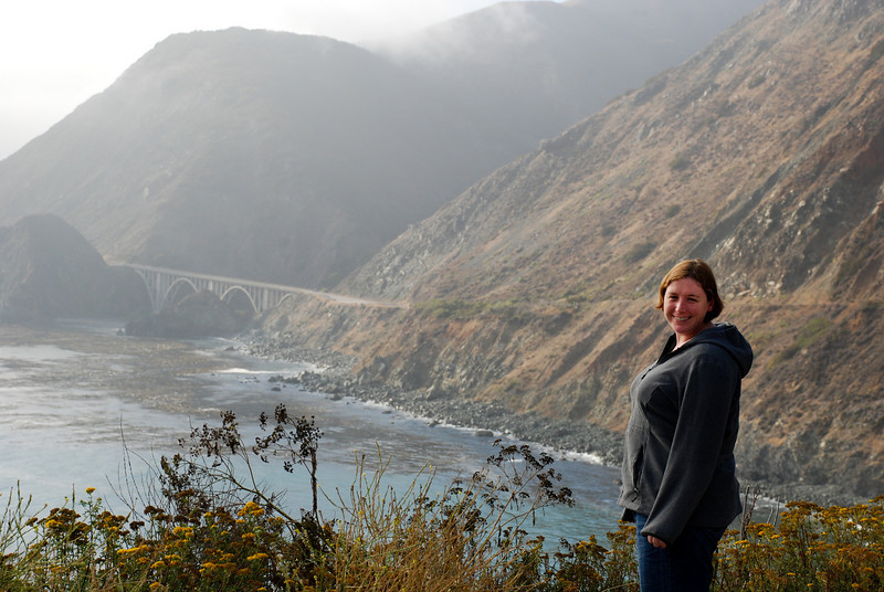 """<span id=""""title"""">Central Coast </span> Here's Ann on one of the first nice pictures I was able to take on the coast."""