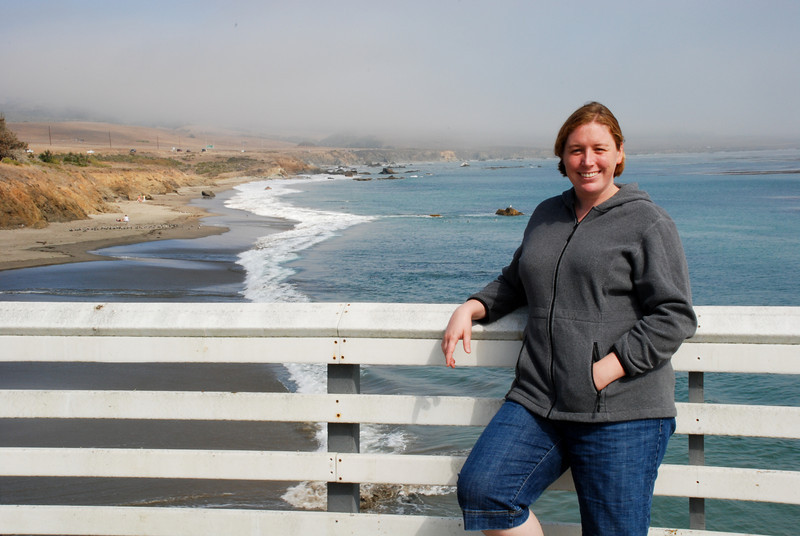 """<span id=""""title"""">Hearst Beach Pier</span> Pretty coast near Hearst Castle. We couldn't actually see the beach from the castle because it was too foggy."""