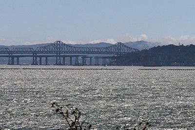 Bay bridge replacement ... notice the missing span being replaced