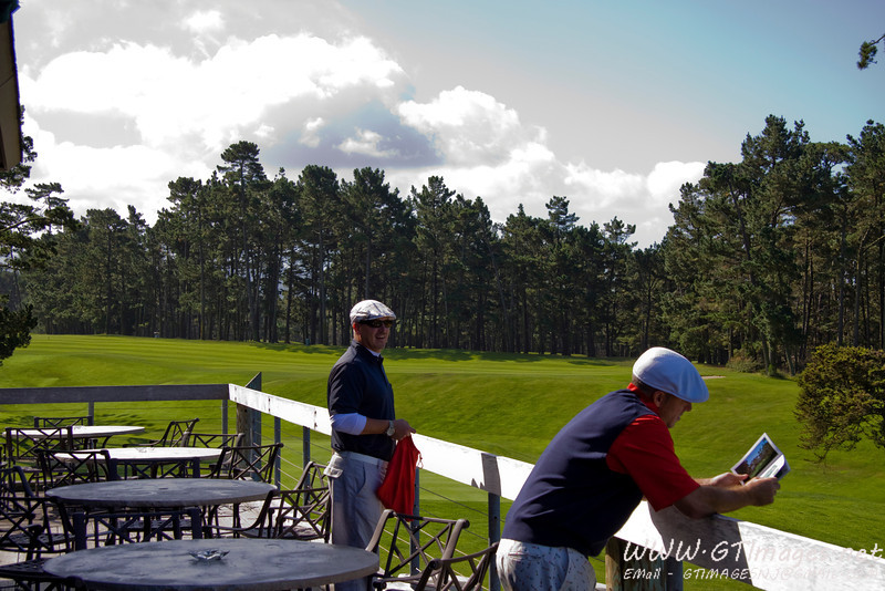 I got to play my very first game of golf at the Poppy Hills golf course- at Pebble Beach, CA. I was very fortunate.....<br /> <br /> This is a view from the club house before setting out for the day.