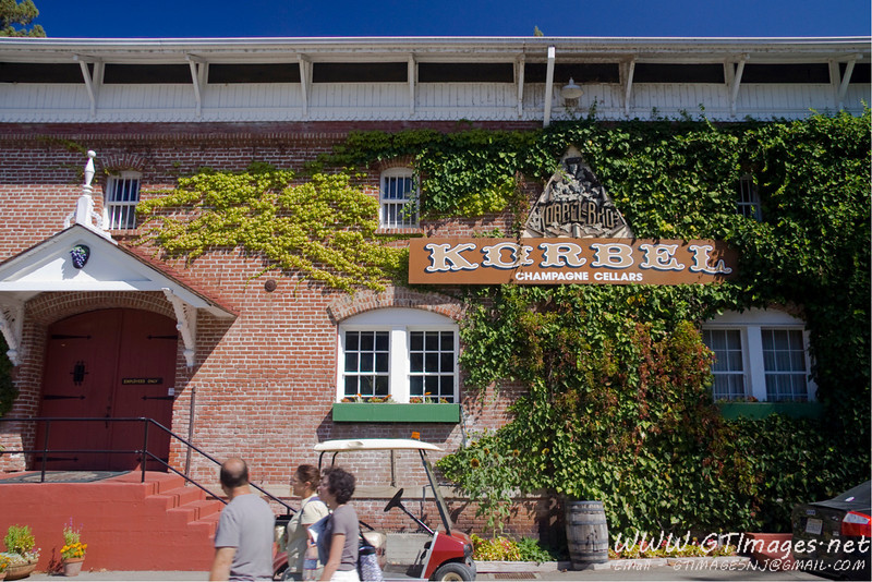 In the afternoon, we went to Korbel. This building has been in use since the late 1800's.