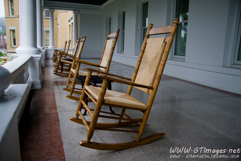 The French Lick Hotel has a beautiful wrap around porch loaded with rocking chairs. Quite a nice place to relax.