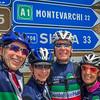 A chance encounter with fellow Garda Bike Hotel guests.  Randy, Calla, Gavin & Laura on the backroads near Radda in Chianti