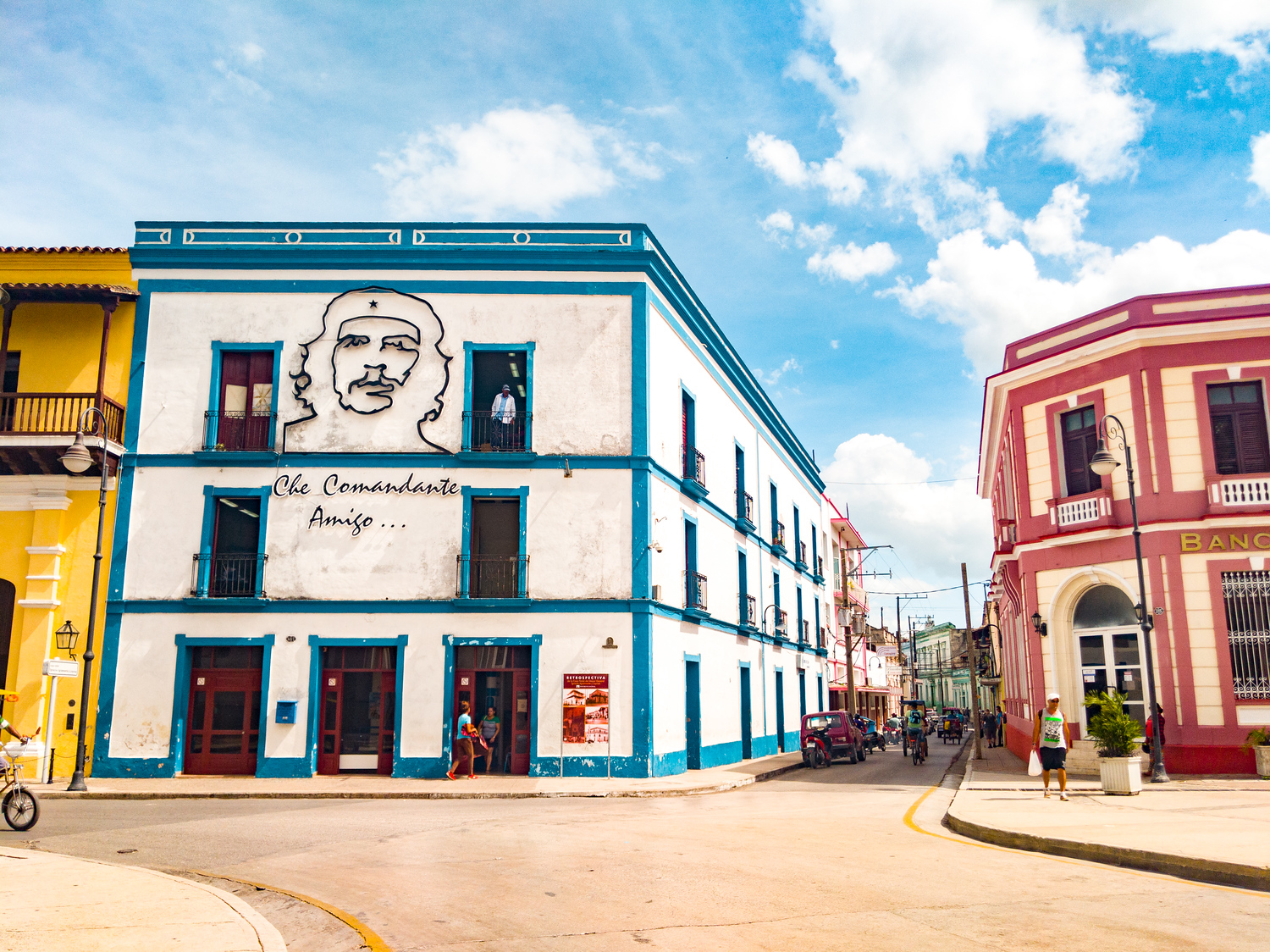Buildings on the main square in Camaguey Cuba