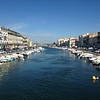 Monday we took a fast and cheap train ride over to Sete, on the shore. This city's been around since the 1600s and has these nice canals and bridges.