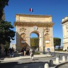 Here's the local Arc. Montpellier is the 8th biggest city in France and has a large Muslim population. Everyone behaved themselves.