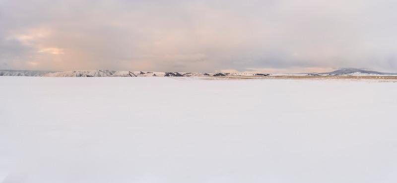 Snowy Prairie Panorama