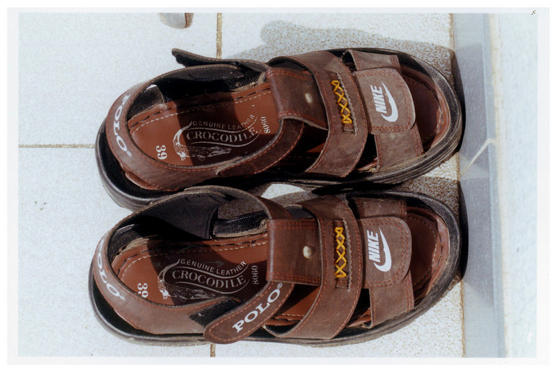 These people are so rich they have Lacoste Polo Nike sandals.