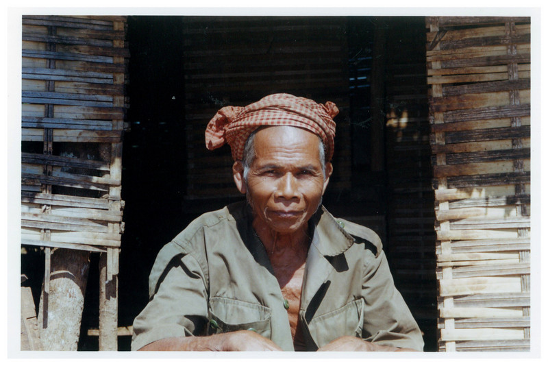 Villager near the Vietnamese border.
