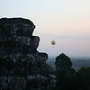 Hot air balloon ride over the Angkor complex - view from Phnom Bakheng
