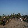 Walking along the main path towards Angkor Wat.