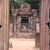 Inside the Bantey Srei temple