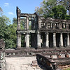 Roman-style columns at Preah Kahn (this style of architecture is only seen at Preah Kahn)