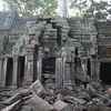 Rubble at Ta Prohm. Most of the restoration efforts start with such rubble and put the pieces together from here.