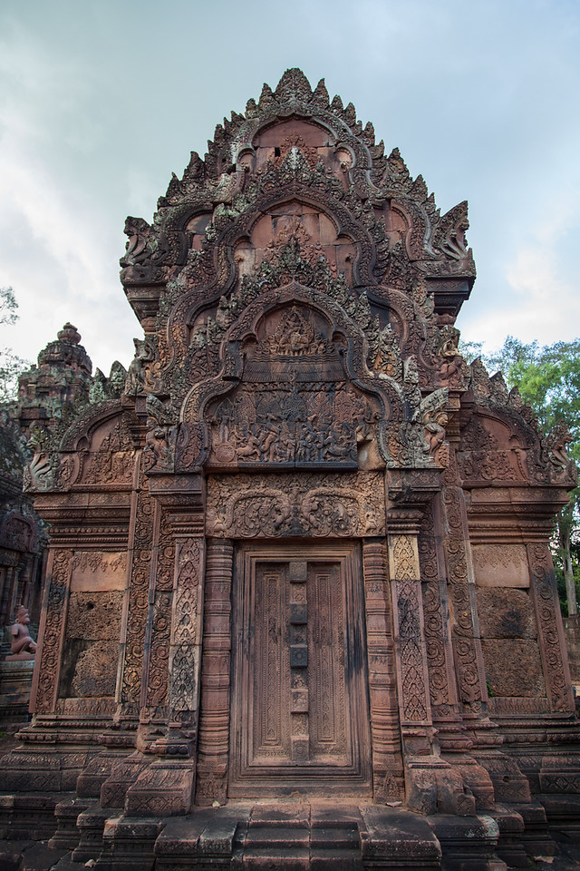 A view showing the carvings covering every inch of the walls.
