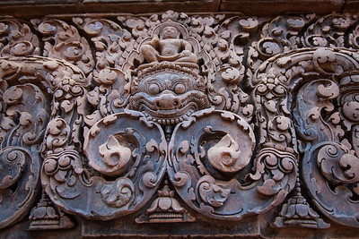 Banteay Srei was easily in my top three favorite temples. The temple itself was small, but the level of detail was incredible - this example shows what most every surface looked like within the temple.