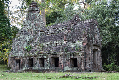 A small building just outside of the East Gate of huge Preah Khan temple. The entire area was rather spooky - probably because we were some of the only visitors left just before sunset.