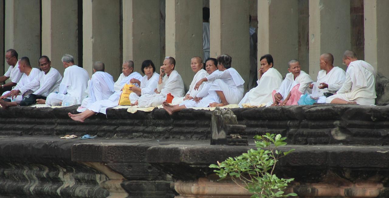 resting monks