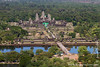 Angkor Wat Seen From Balloon