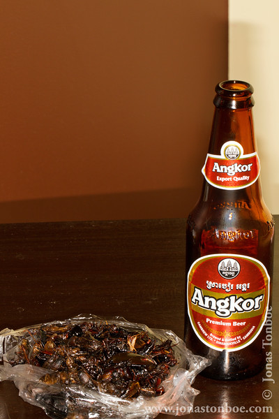 Insect Goodie Bag and Angkor Beer