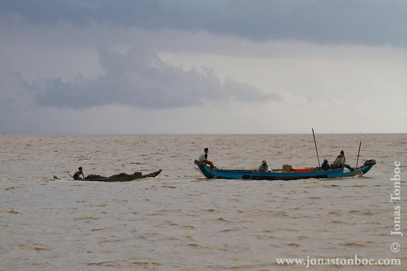 Fishing Boats in Tonle Sap Lake