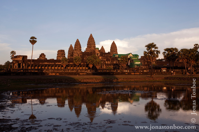 Reflecting Pool and Main Temple at Sunset