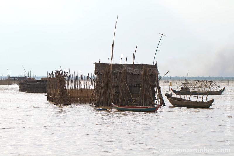 Fishing Village in Tonle Sap Lake