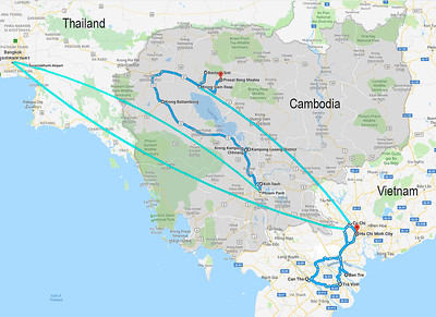 4 weeks total: 3 days in Bangkok, 5 days in Vietnam, the rest in Cambodia