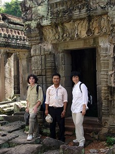 Our wonderful guide, Yous Sa. He has his own webpage and an article written about him, here are the links: http://65.25.253.93/dotnetnuke/cambodia/ http://www.travelintelligence.net/wsd/articles/art_3428.html