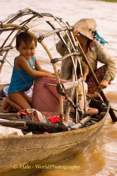 Waterborne Vendors On Tonle Sap lake