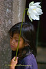 Young Girl and Lotus Flower