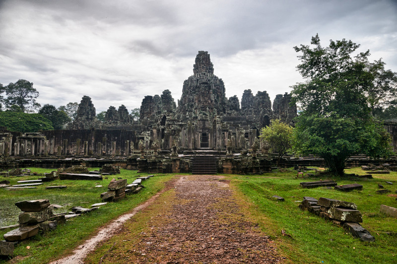 Bayon as viewed from behind.