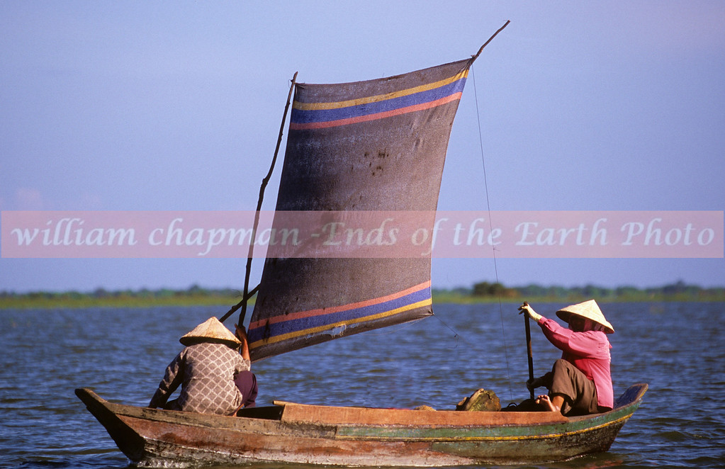 Fishermen on Tonle Sap Lake Cambodia