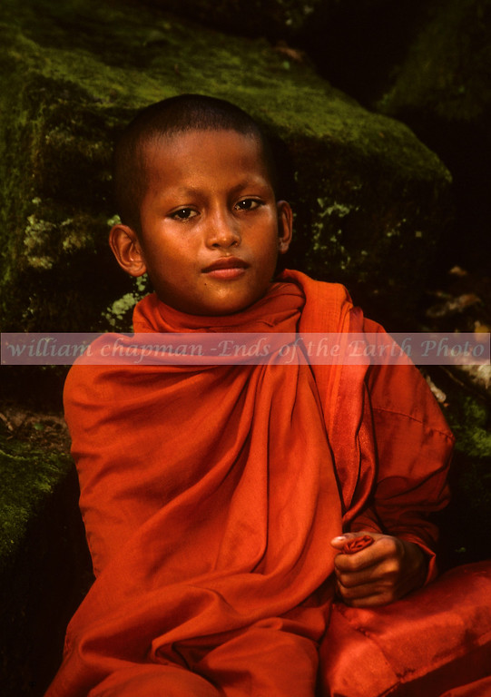 Young Monk of Ta Prohm<br /> - Angkor Cambodia