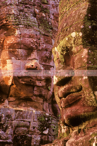 Ancient Stone Faces of the Bayon-<br /> <br /> Angkor- Cambodia