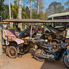 Tuk Tuk drivers taking a mid day nap in Siem Reap, Cambodia