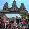 Crossing the border from Thailand into Cambodia