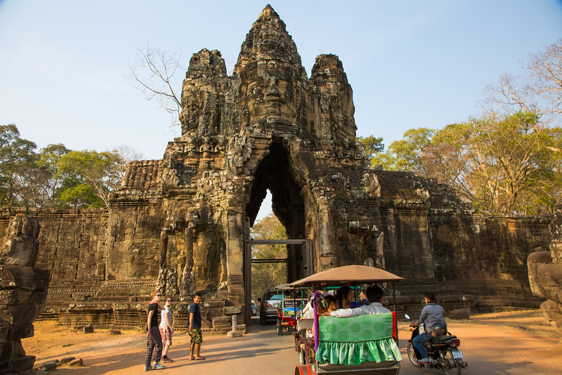 Entrance gate to the Bayon Temple, Angkor, Cambodia
