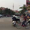 The streets of Siem Reap, Cambodia