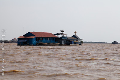 I did not expect to see a floating church here since Buddhism is the dominant religion in Cambodia