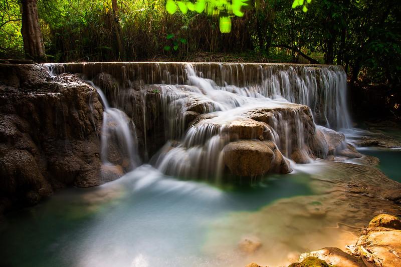 Kuang Si falls.