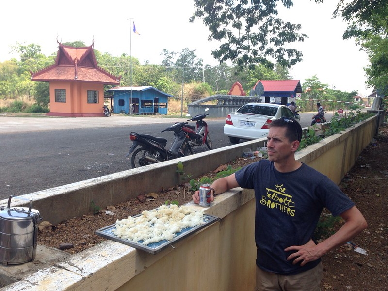 Jackie took this picture covertly at the Cambodian border.