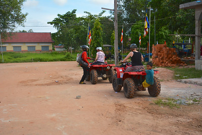 Jan Meg Phnom Kulen National Park 4x4 Quad Bikes Siem Reap Cambodia October 2015