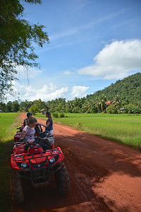 Meg Jan Emma Phnom Kulen National Park 4x4 Quad Bikes Siem Reap Cambodia October 2015