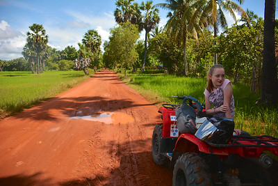 Meg Phnom Kulen National Park 4x4 Quad Bikes Siem Reap Cambodia October 2015