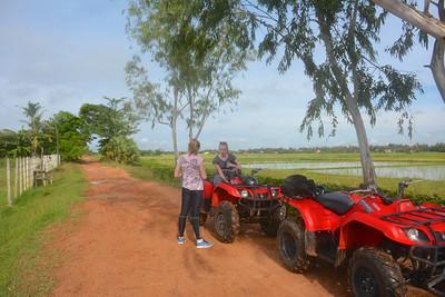 Meg Emma Phnom Kulen National Park 4x4 Quad Bikes Siem Reap Cambodia October 2015