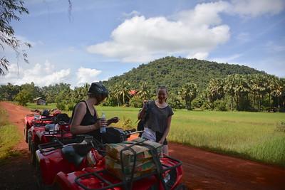 Jan Emma Phnom Kulen National Park 4x4 Quad Bikes Siem Reap Cambodia October 2015