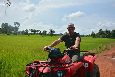 Brian Phnom Kulen National Park 4x4 Quad Bikes Siem Reap Cambodia October 2015